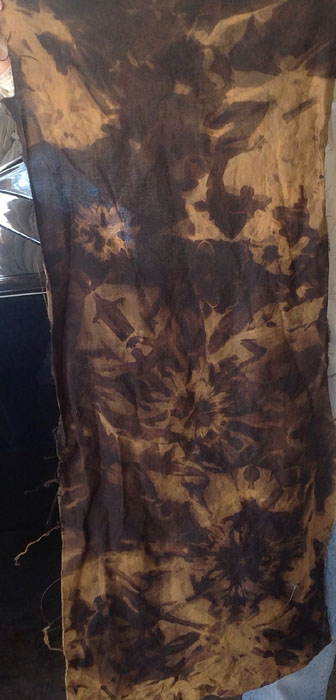 Brown to Tan Hand-dyed fabric